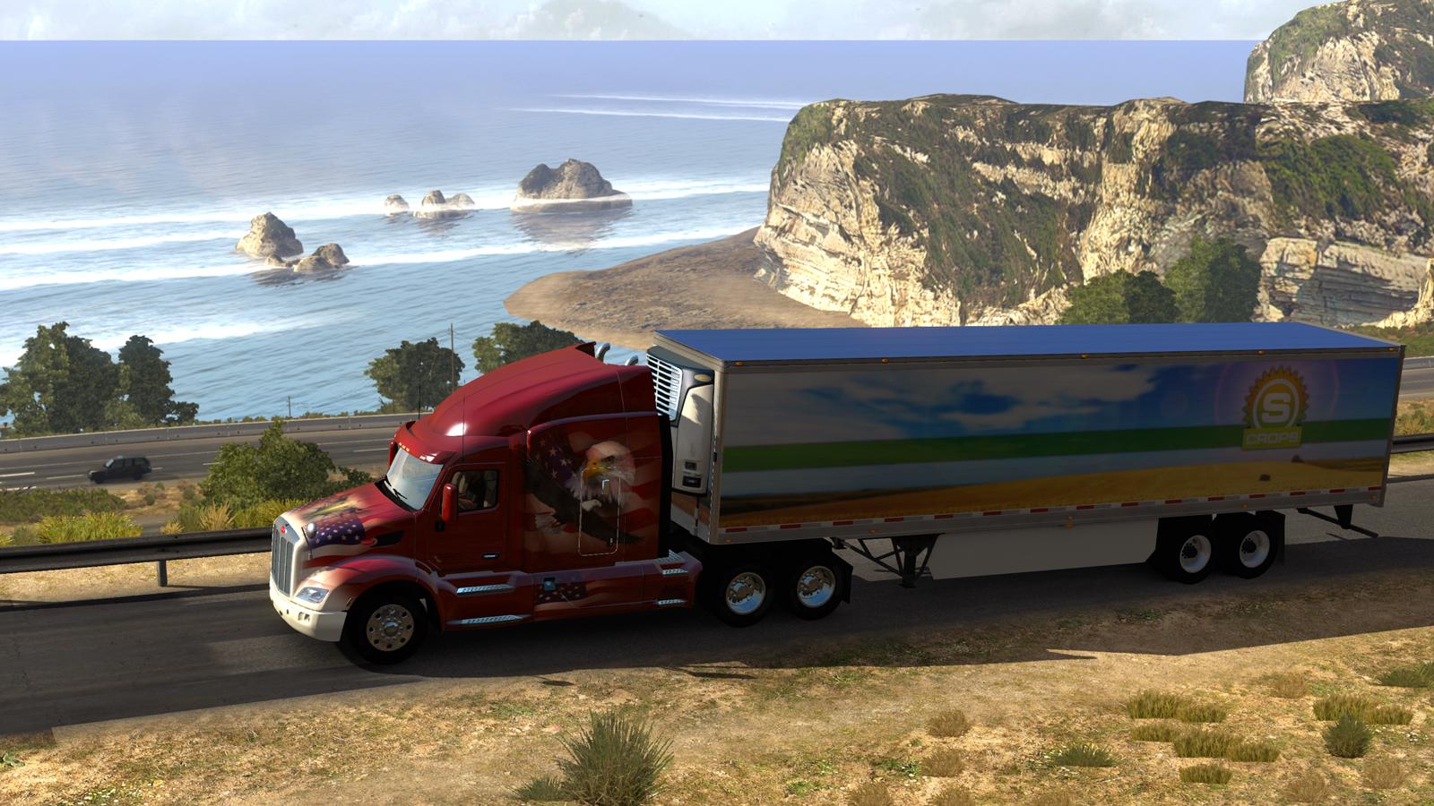 american truck simulator d couverte test gameplay opium testing le blog. Black Bedroom Furniture Sets. Home Design Ideas