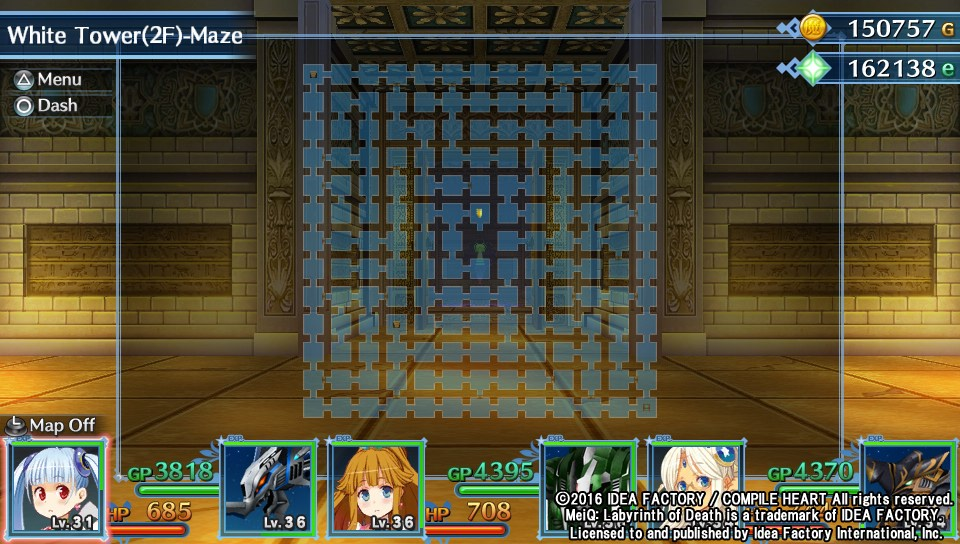 MeiQ Labyrinth of death carte