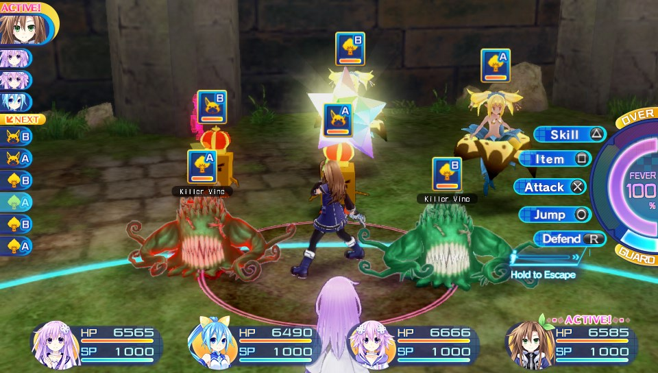 Superdimension Neptune VS Sega Hard Girls combats