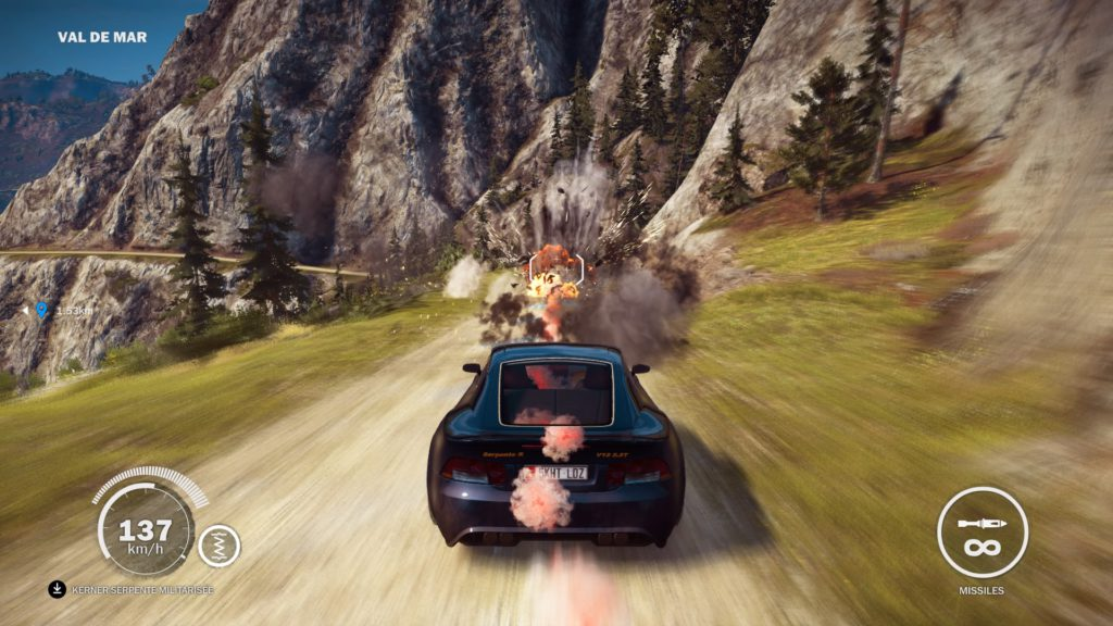 Just Cause 3 Gold Edition rocket launcher car