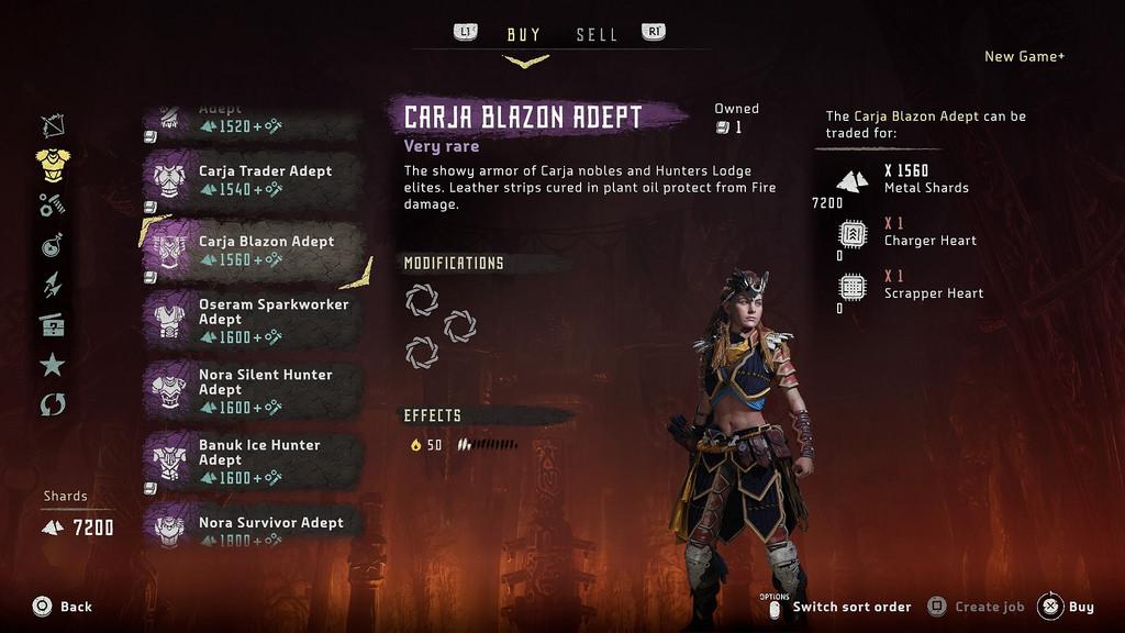 New Game + et nouveaux trophées sur le dernier patch — Horizon Zero Dawn