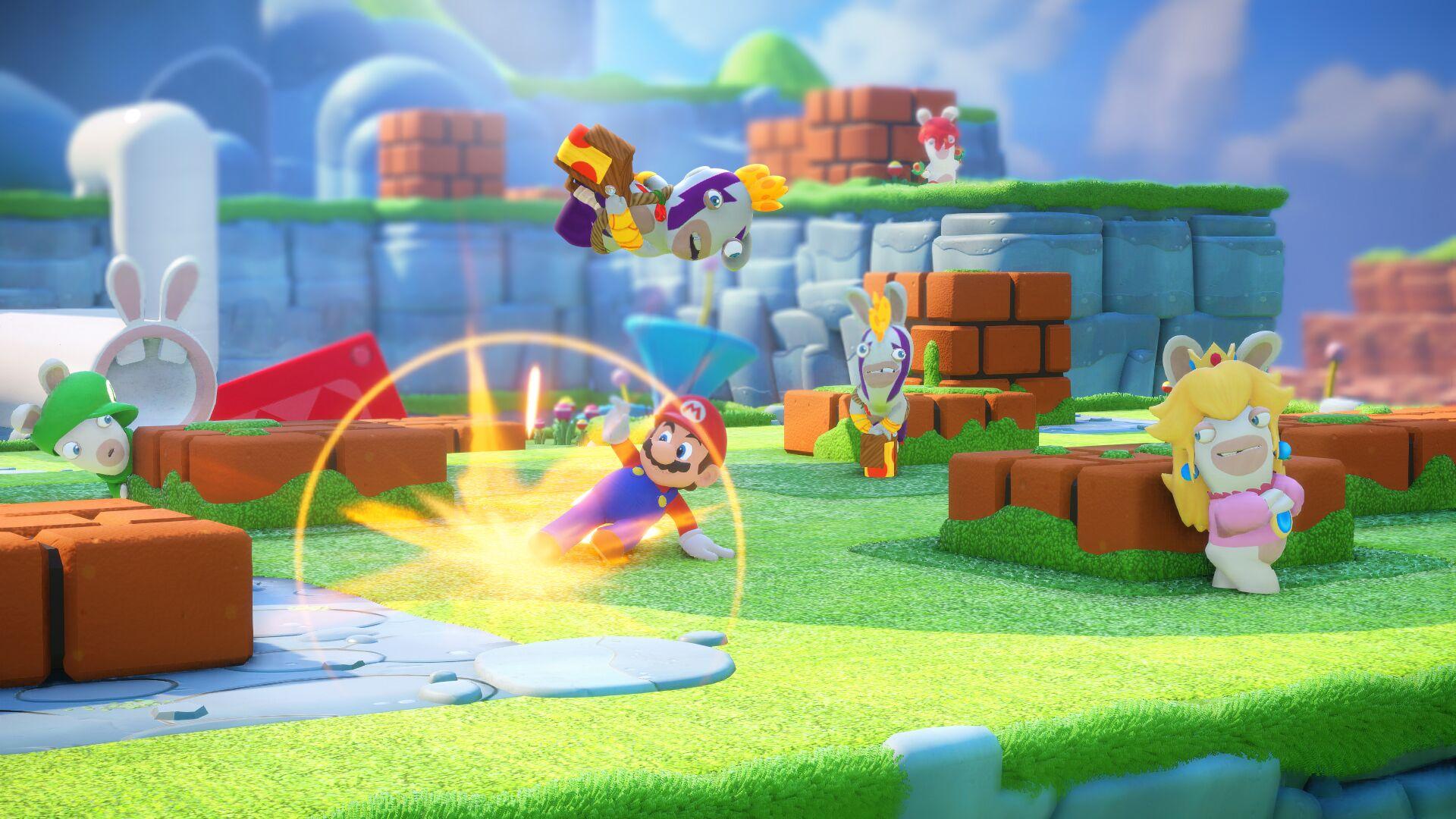 Mario + The Lapins Crétins - Lapin Peach dévoile ses talents