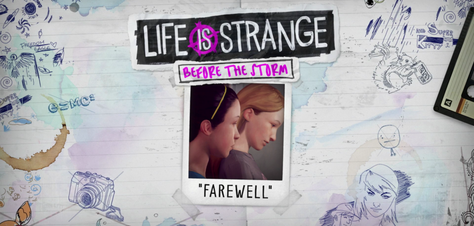 Life is Strange Before The Storm Farewell Adieux PS4