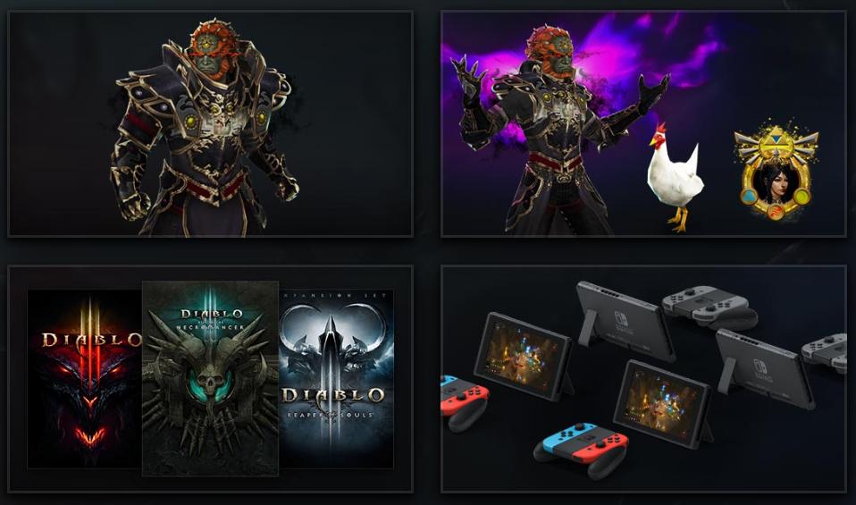 Diablo III : Contenu Switch