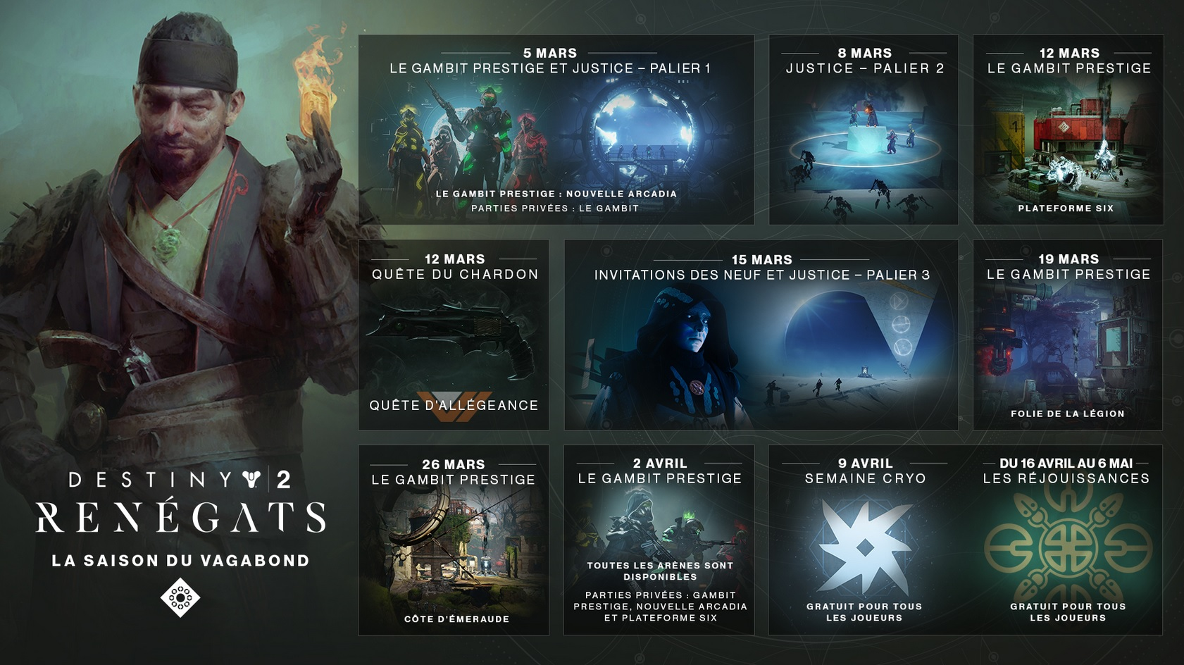 Calendrier Destiny 2.Destiny 2 Quelques Details Sur Le Calendrier De La Saison