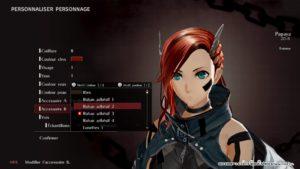 GOD EATER 3 avatar creation